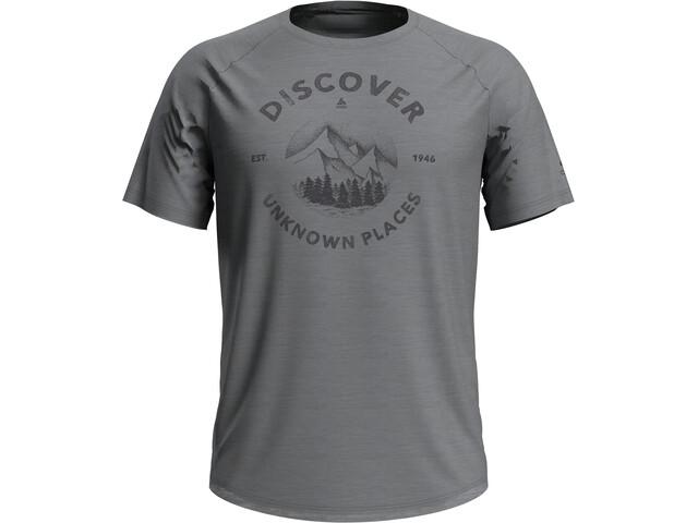 Odlo Concord Crewneck T-shirt Heren, grey melange/discover print